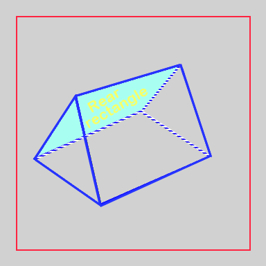 Triangular prism with rear rectangle highlighted