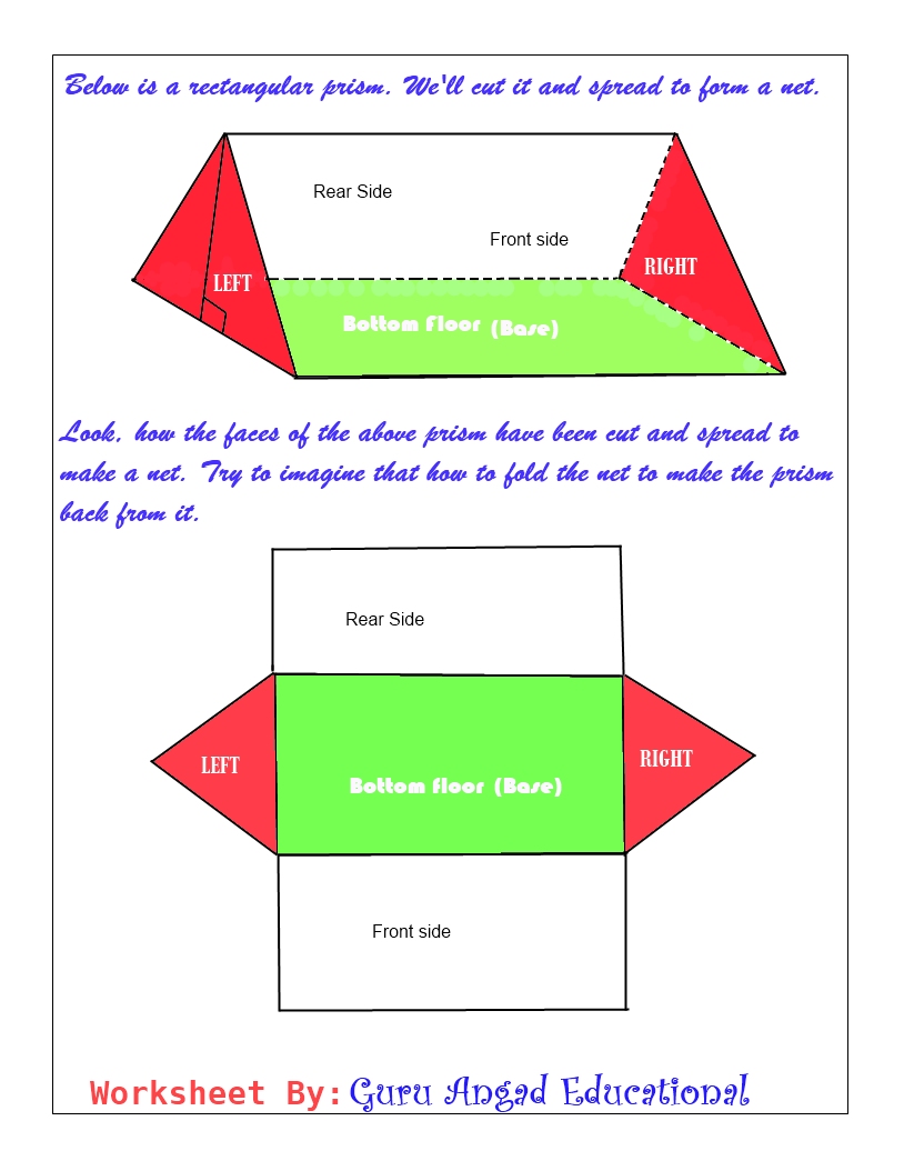 trinangular prism net – Triangular Prism Volume Worksheet
